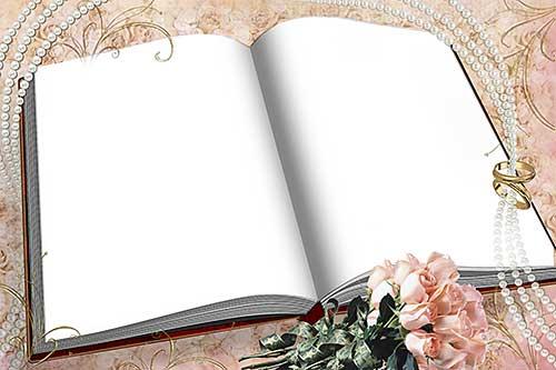 Рамка для фотошопа свадебный альбом